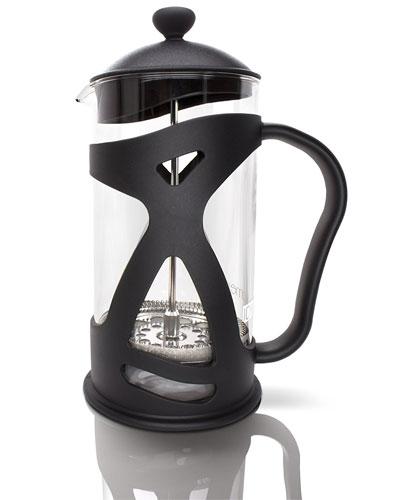Idylc-Homes-KONA-French-Press-Coffee-Tea-&-Espresso-Maker,-Black-34oz-Glass-Teapot
