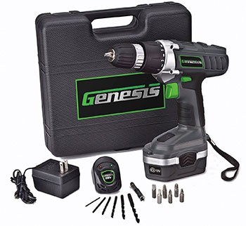 12-Genesis-GCD18BK-18-Volt-Cordless-Variable-Speed-Drill_Driver-Kit