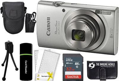 3-Canon PowerShot-ELPH-180-20MP-8X-Zoom-Digital-Camera-(Silver)
